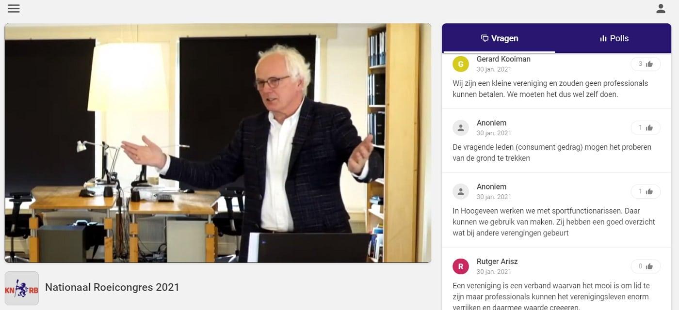 livestream interface